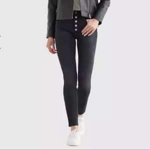 Lucky High Rise Bridgette Skinny Jeans Black Sz 32